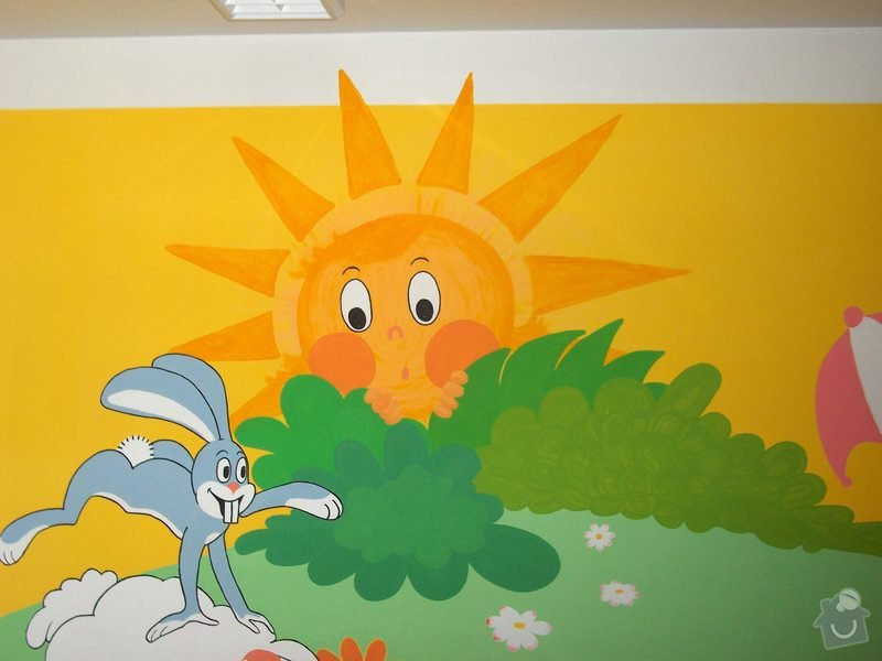 Nástěnná malba v mateřském centru Poděbrady: HPIM1119