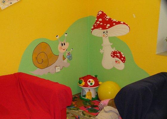 Nástěnná malba v mateřském centru Poděbrady