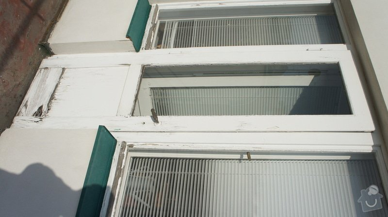 Oprava vnějších dřevěných dveří na terasu včetně prahu: DSC05972