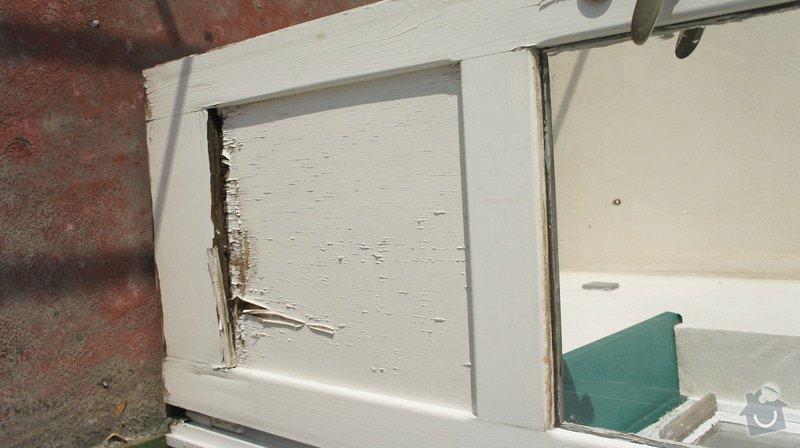 Oprava vnějších dřevěných dveří na terasu včetně prahu: DSC05967