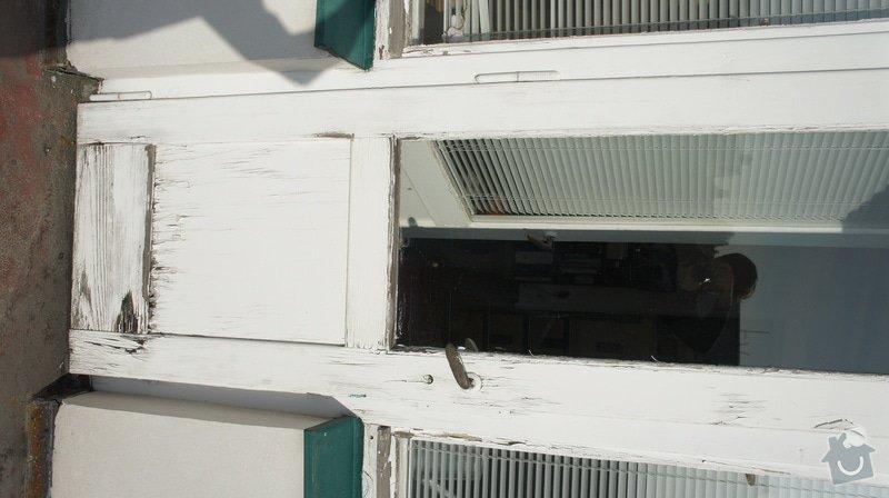 Oprava vnějších dřevěných dveří na terasu včetně prahu: DSC05966