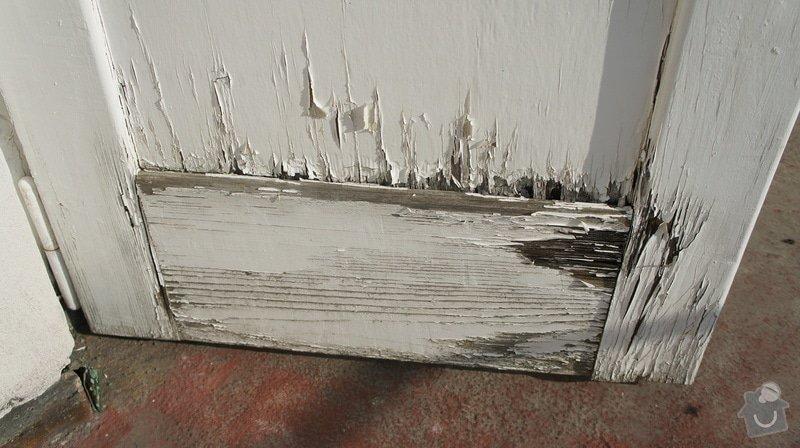 Oprava vnějších dřevěných dveří na terasu včetně prahu: DSC05965