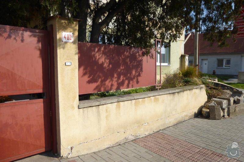 Oprava plotu - zbourání a stavba nového: P1000849