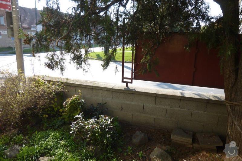 Oprava plotu - zbourání a stavba nového: P1000852