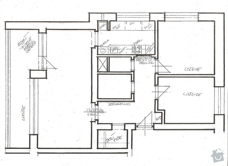 Vymalování bytu 3+1, 72m2: byt-nahled