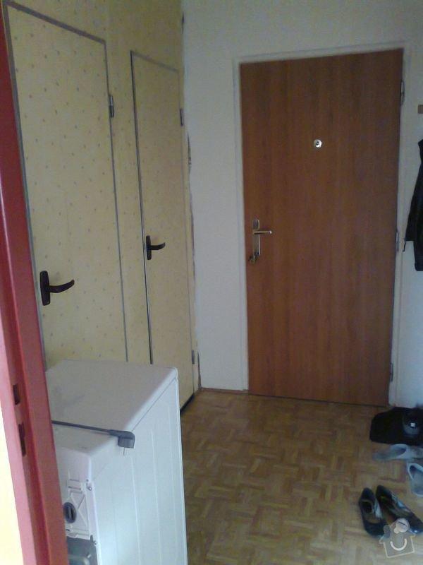 rekonstrukce bytového jádra a kuchyně, malování, pokládka podlahy, instalace vestavěných skříní - garsonka 40m2: 7