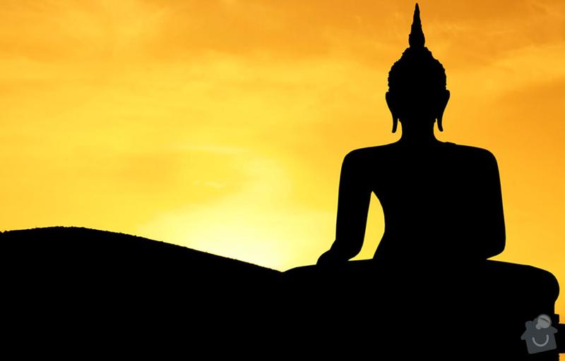 Obrazek + logo pro dvorni fasadu: Buddha_silhouette