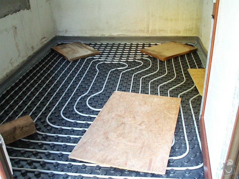 Montáž podlahového topení a technologie kotelny.: PICT6647