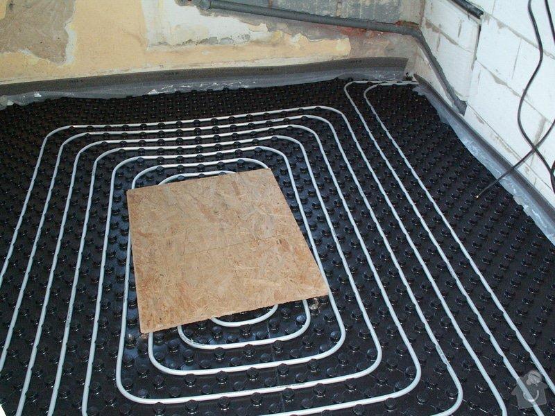 Montáž podlahového topení a technologie kotelny.: PICT6653