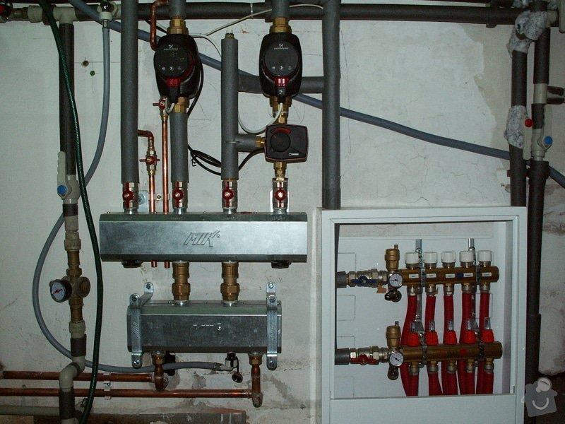 Montáž podlahového topení a technologie kotelny.: PICT6678