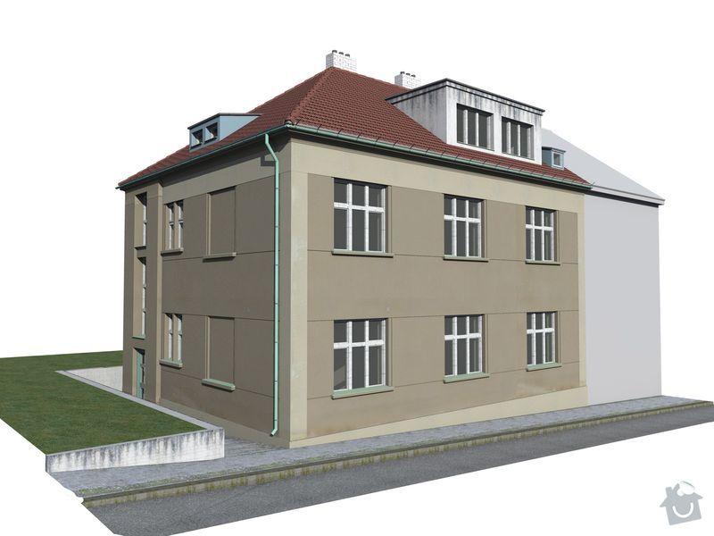 Pokrývačské, klempířské a tesařské práce na střeše: Model_-_stavajici_stv_1