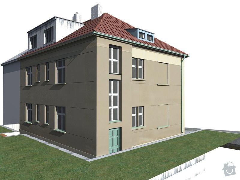 Pokrývačské, klempířské a tesařské práce na střeše: Model_-_stavajici_stv_2