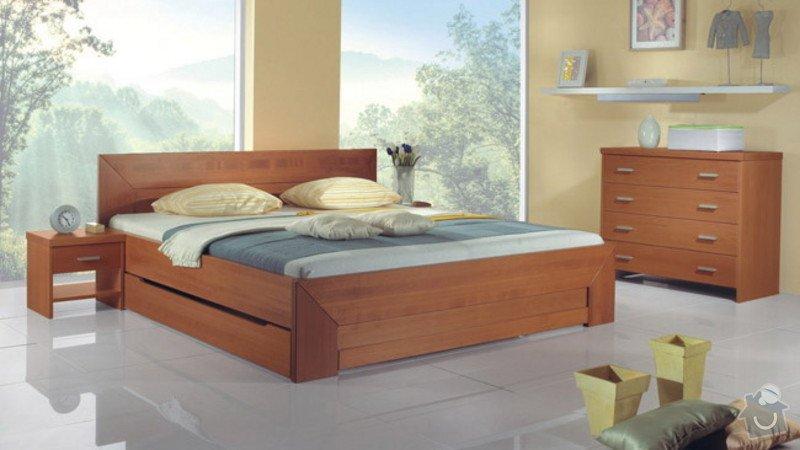 Vestavěná šatní skříň + postel včetně nočních stolků: postel_vzor2