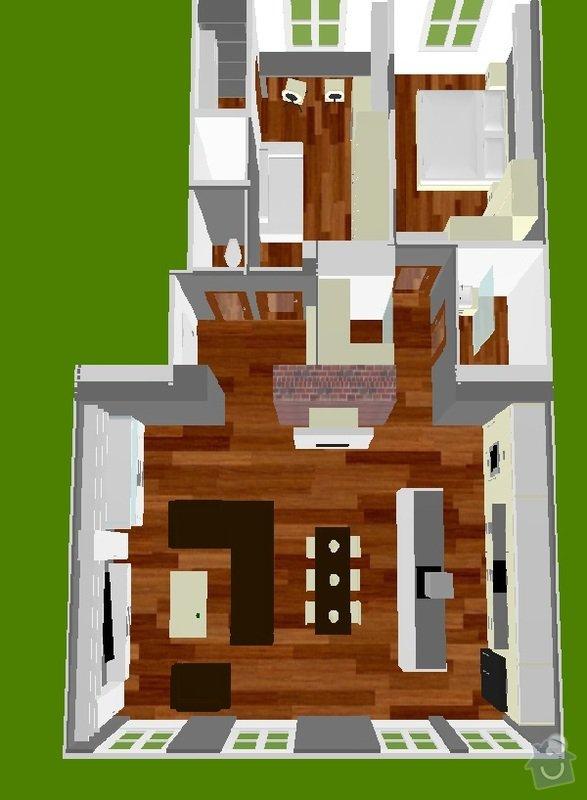 Rekonstrukce bytu, Praha 10, 90m2.: pohled_sever