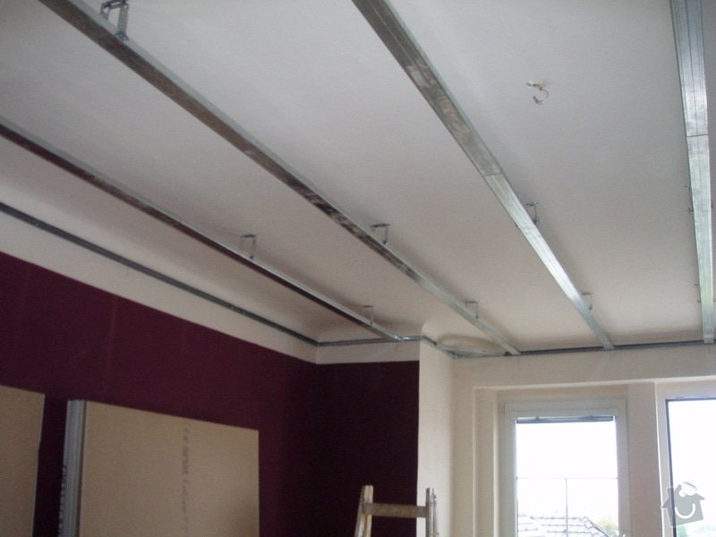 SDK podhled, SDK strop, elektroinstalace,malování: 005