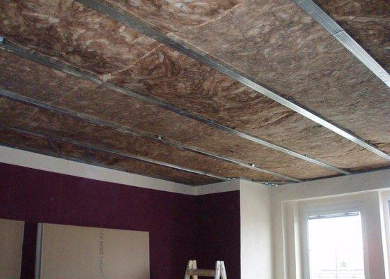SDK podhled, SDK strop, elektroinstalace,malování