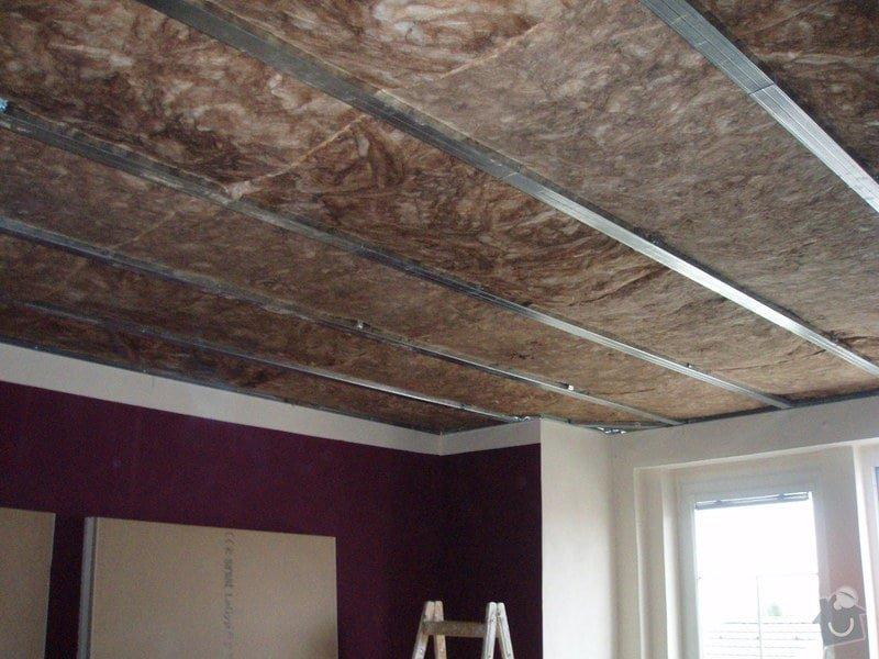 SDK podhled, SDK strop, elektroinstalace,malování: 010