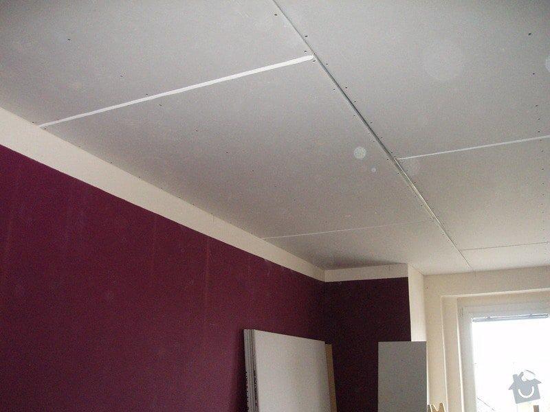 SDK podhled, SDK strop, elektroinstalace,malování: 011