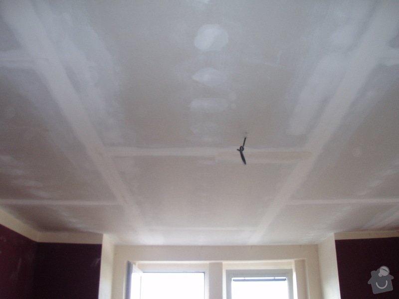 SDK podhled, SDK strop, elektroinstalace,malování: 035