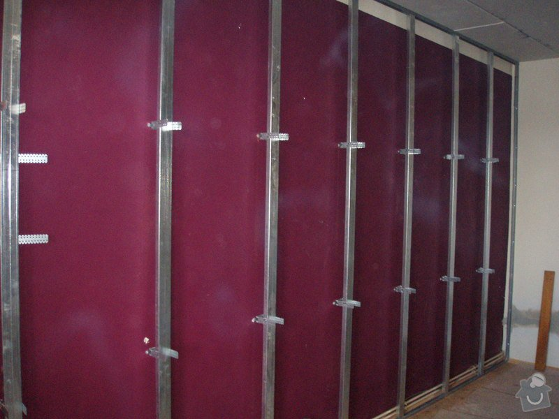 SDK podhled, SDK strop, elektroinstalace,malování: 015