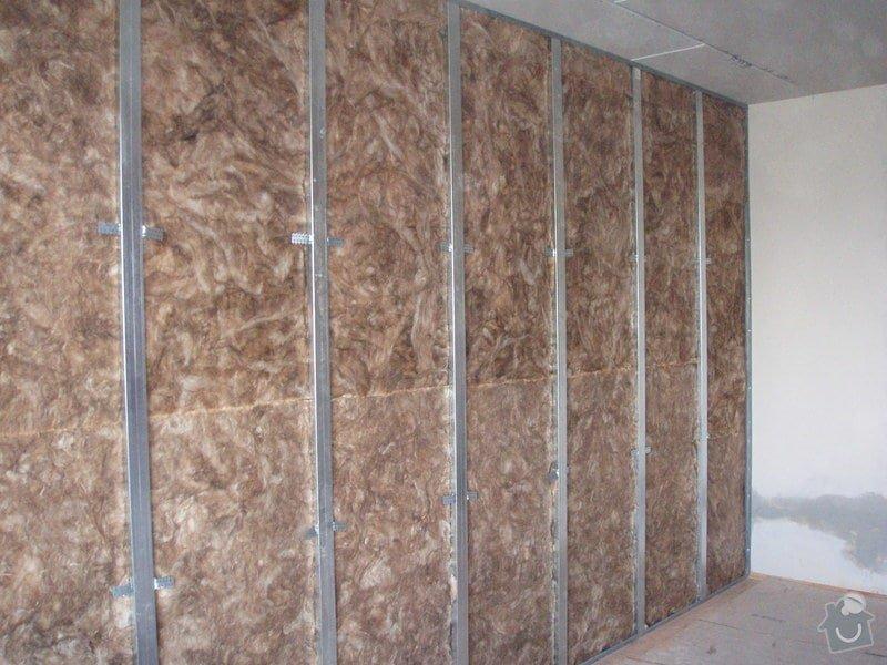 SDK podhled, SDK strop, elektroinstalace,malování: 016