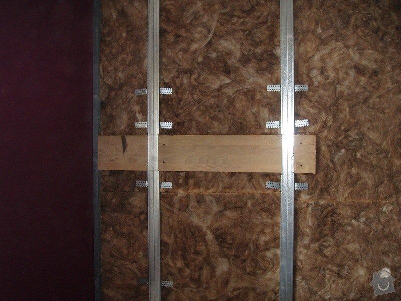 SDK podhled, SDK strop, elektroinstalace,malování: 017