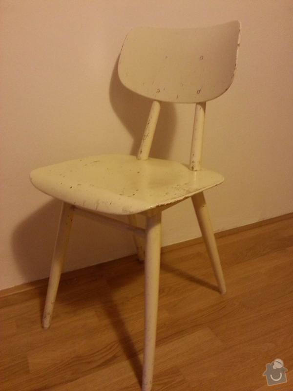 Oprava rozklížené dřevěné židle, 2 ks: Turek_zidle