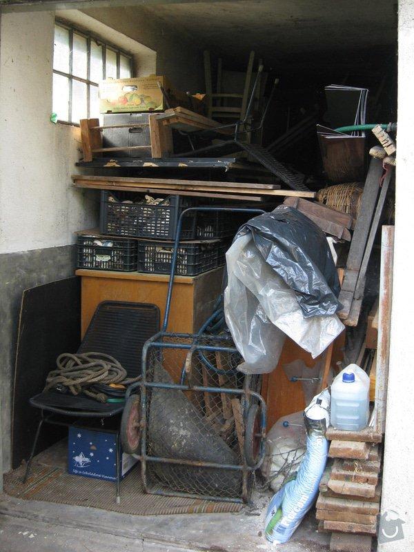 Naložení a odvoz odpadu a suti: garaz