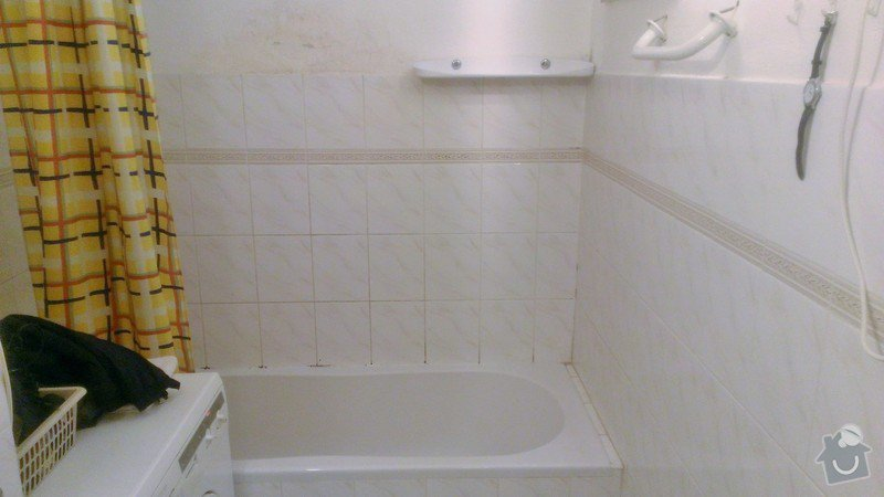 Přespárování kachliček v koupelně, přetěsnění vany: WP_20131026_001