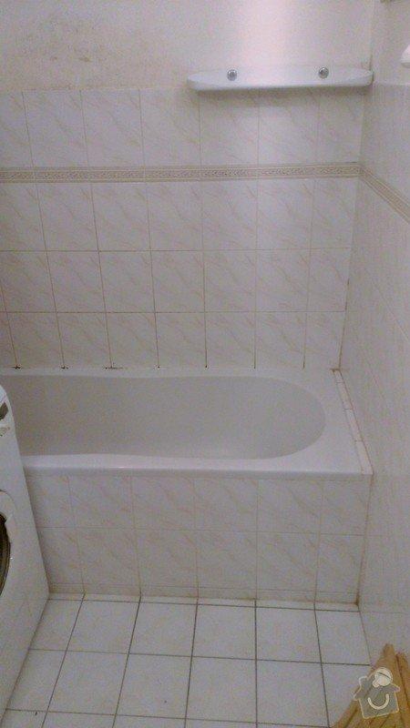 Přespárování kachliček v koupelně, přetěsnění vany: WP_20131026_002