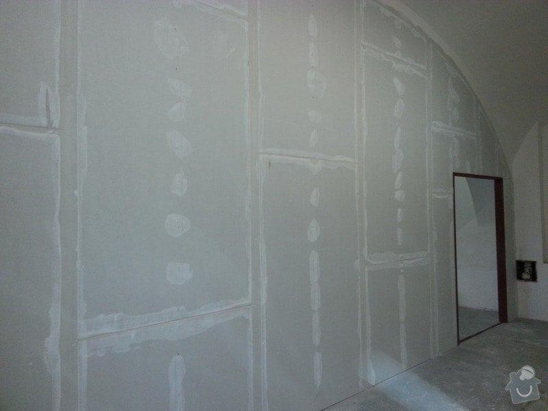 Sádrokartonová stěna: 20131012_145436