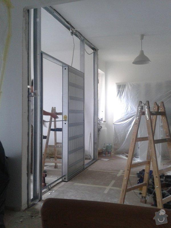 Posunutí dvěřního otvoru v sadrokartonové stěně: 20130916_130611