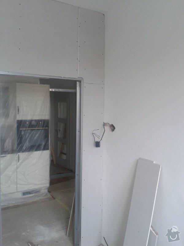Posunutí dvěřního otvoru v sadrokartonové stěně: 20130917_095443