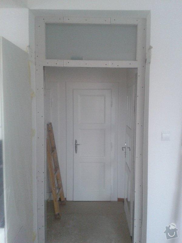Posunutí dvěřního otvoru v sadrokartonové stěně: 20130917_105454