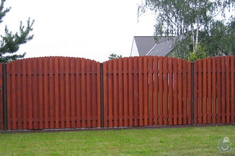 Dřevěný plot: plot