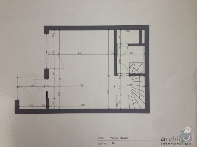 Úpravy nového bytu: Pudorys