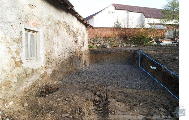 Stavba suché kamenné zdi: TARAS-situace1