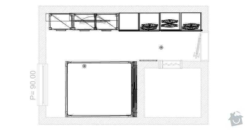 Vestavené skrine: pokoj_13.5.2011_-_pudorys