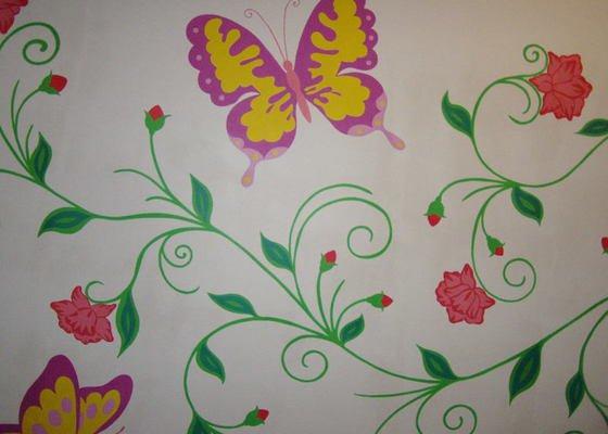 Malování na zeď v dětském pokoji