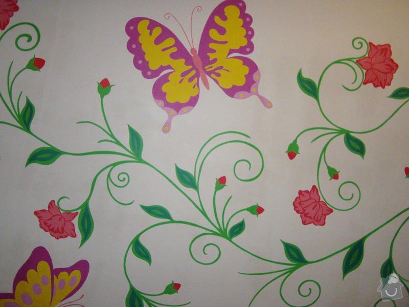 Malování na zeď v dětském pokoji: Kvety_5