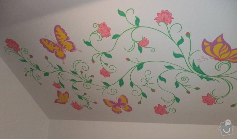 Malování na zeď v dětském pokoji: Kvety_4