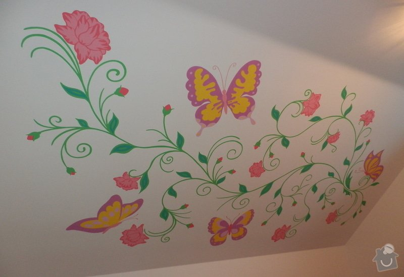 Malování na zeď v dětském pokoji: Kvety_3