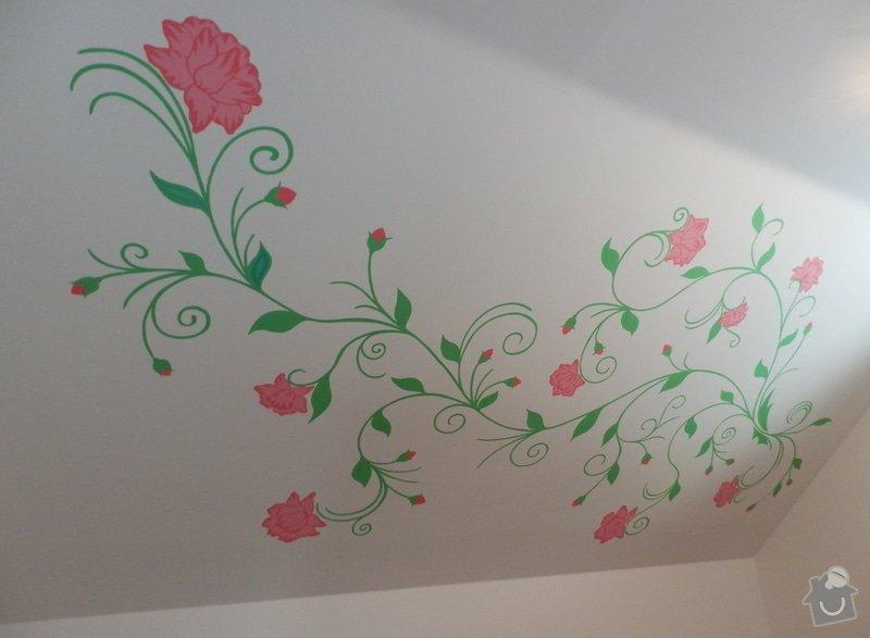 Malování na zeď v dětském pokoji: Kvety_1