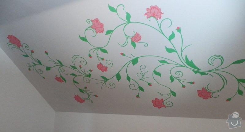 Malování na zeď v dětském pokoji: Kvety_2