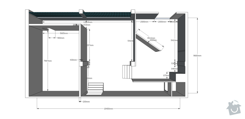 Rekonstrukce kancelářských prostor: pudorys_final
