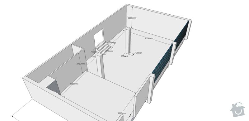 Rekonstrukce kancelářských prostor: pudorys_original