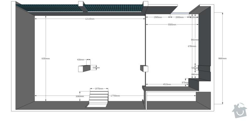 Rekonstrukce kancelářských prostor: pudorys_original_iso