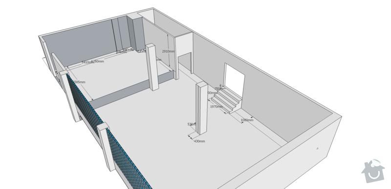 Rekonstrukce kancelářských prostor: pudorys_original_iso3D2