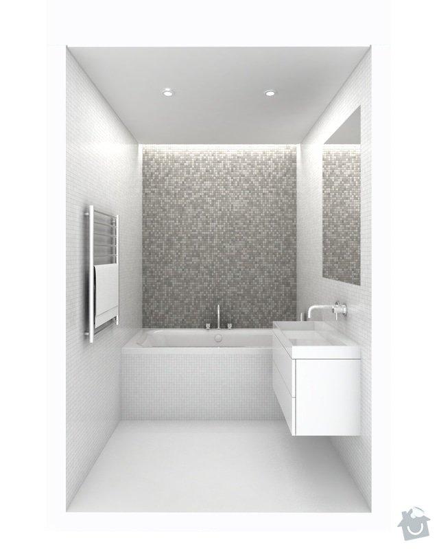Obklad koupelny a WC mozaikou: K024