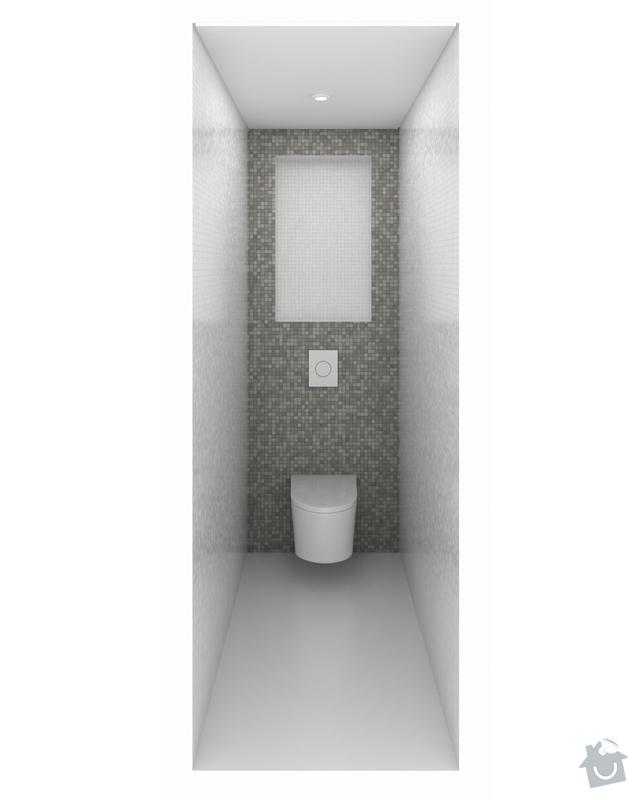 Obklad koupelny a WC mozaikou: WC004